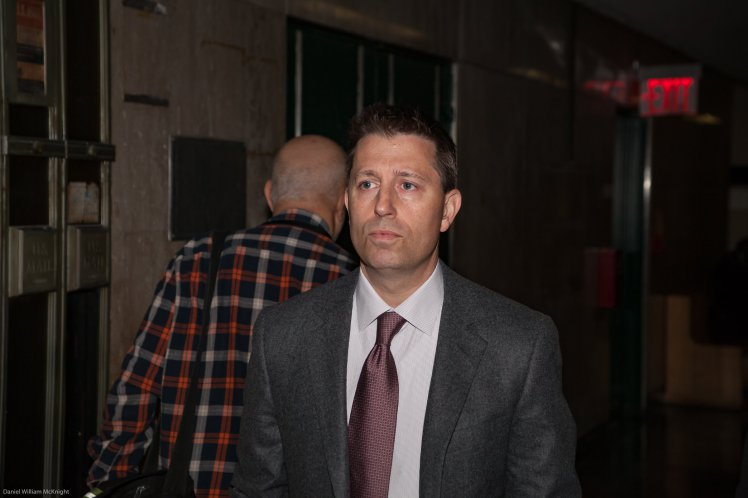 David Newman appears before Judge Obus in Manhattan Criminal Court to face charges of sexually violating four women under his care at Mt. Sinai Hospital in Manhattan. (Daniel William McKnight)