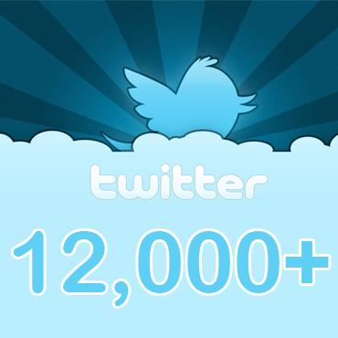 12000 followers
